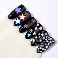 Star shaped glitter x 6